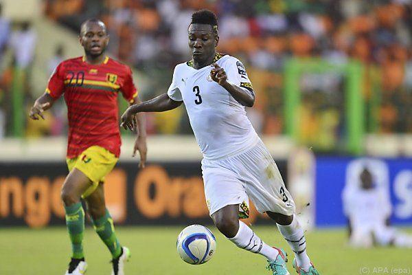Asamoah Gyan in Aktion