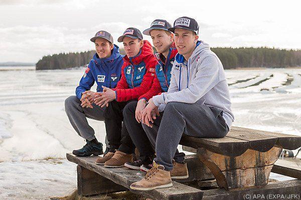 Skisprung-Team versprüht Optimismus