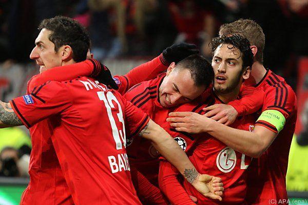Riesenjubel bei Leverkusen über das 1:0