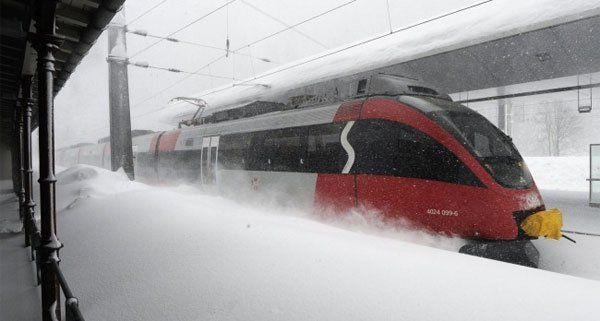Wegen des Schnees kam es zu Behinderungen und Verspätungen