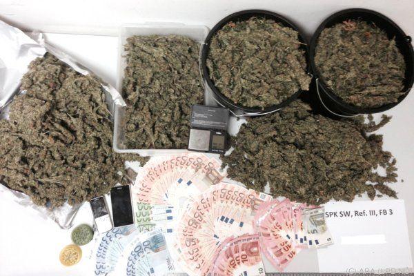 Cannabis und Geld wurden sichergestellt