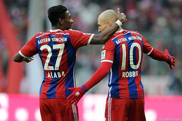 Bayern-Stars Alaba und Robben wieder einmal auf Rekordjagd