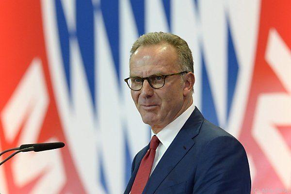 Bayern-München-Boss Rummenigge zeigte sich zufrieden