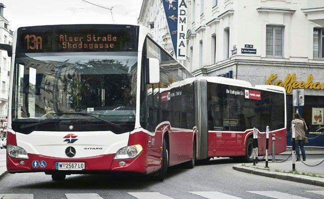 Diese Gelenkbusse werden auf der Linie 13A eingesetzt.