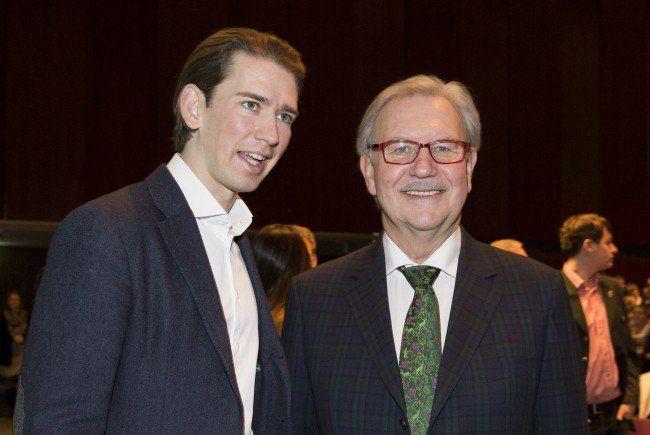 Landtagspräsident Franz Majcen (hier mit Außenminister Kurz) tritt nicht mehr zur Landtagswahl in der Steiermark an.