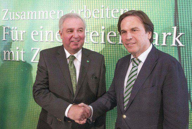 Hermann Schützenhöfer (ÖVP), und der Landeshauptmann Franz Voves (SPÖ) treten zur Landtagswahl in der Steiermark an.