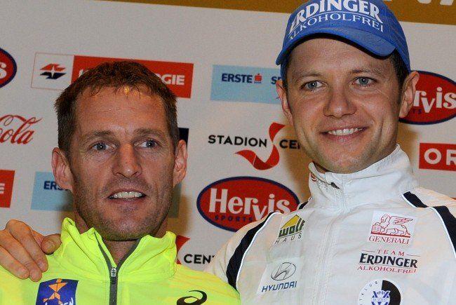 Top-Elite: Roman Weger und Christian Pflügl treten beim Vienna City Marathon 2015 an.