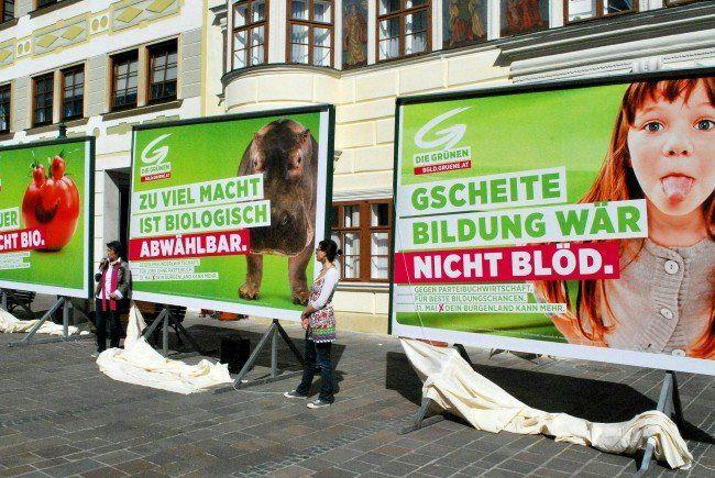 Die Grünen starten am 20. April mit dem Plakat-Wahlkampf im Burgenland.