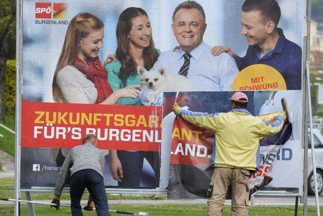 Burgenland-Wahl: Wahlkampf mit Plakaten, Bussen, Landschaftselementen