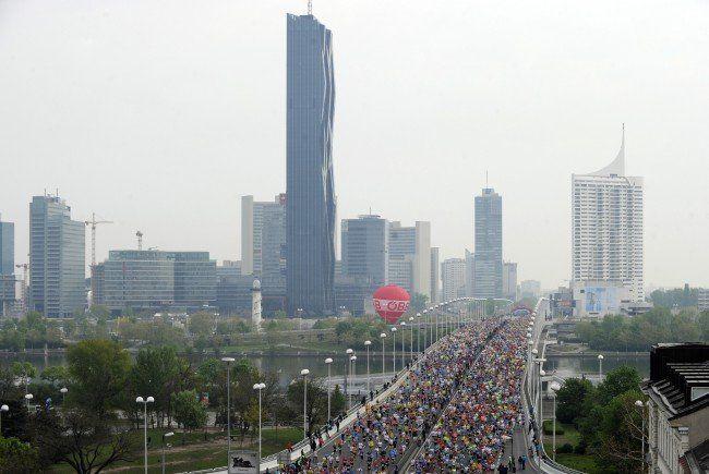 Strahlender Sonnenschein: So wird das Wetter beim Wien-Marathon 2015.