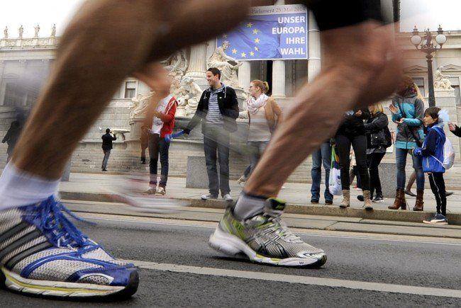 Ein neuer Teilnehmer-Rekord beim Vienna City Marathon 2015.