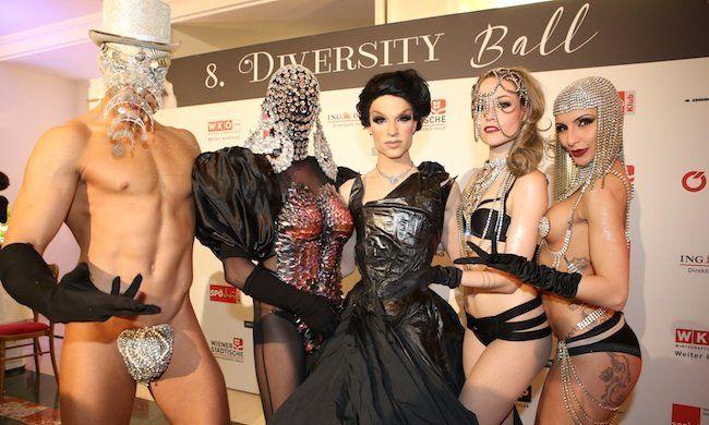 Tamara Mascara und weitere Besucher beim Diversity Ball 2015 in Wien