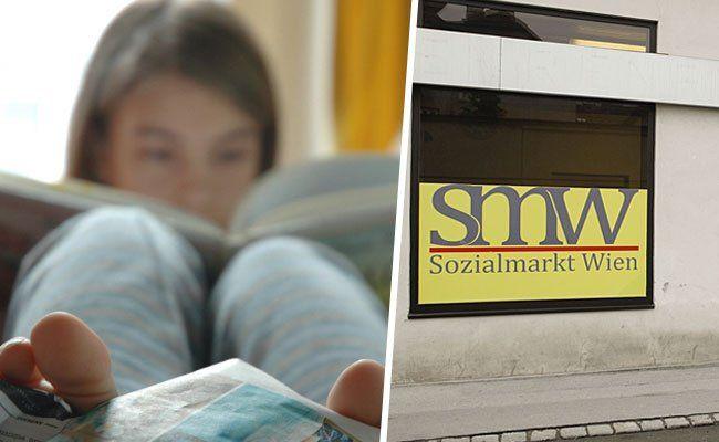 Bücher für Kinder werden in den drei Sozialmarkt Wien-Filialen gratis verteilt