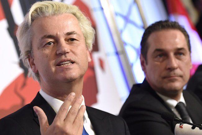Geert Wilders bei seinem Auftritt in der Wiener Hofburg
