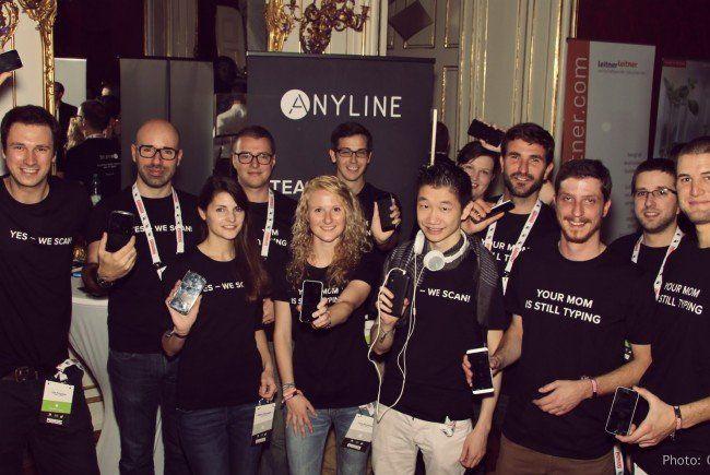 Das Anyline Team am Pioneers Festival 2014