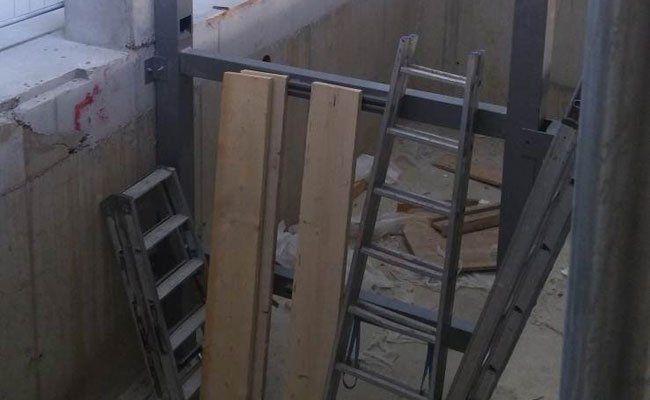 Auf dieser Baustelle ist der Arbeitsunfall passiert.