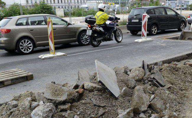 Im 21. Bezirk stehen Straßenbauarbeiten an.