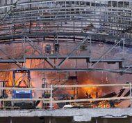 Großbrand in Dänemark: Einkaufszentrum brennt