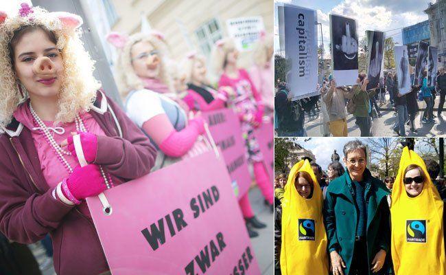 Am 18. April wurde in Wien gegen TTIP demonstriert.