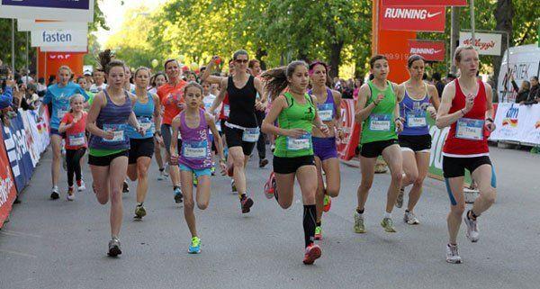 Als Vorbereitung zum Österreichischen Frauenlauf: Der Frauen Fun Run am 22. April im Wiener Prater.