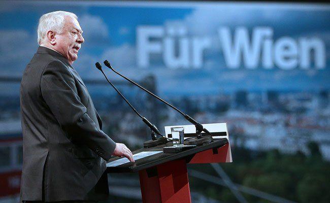 Michael Häupl beim Landesparteitag der SPÖ in Wien.