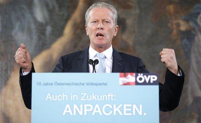 Energische Töne von ÖVP-Chef Reinhold Mitterlehner.