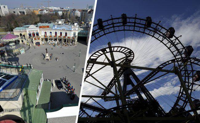 Das Riesenrad ist ein beliebtes Fotomotiv bei Prater-Besuchern.