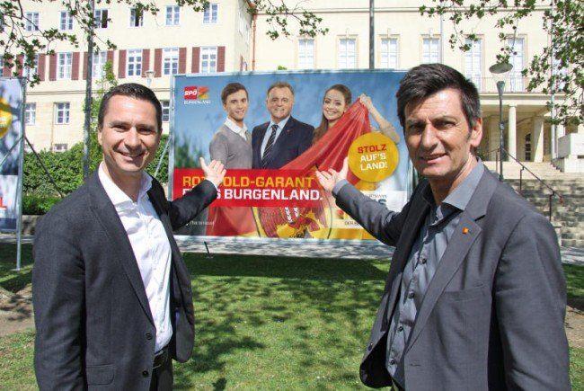 Neue Plakat-Welle der SPÖ im Burgenland.