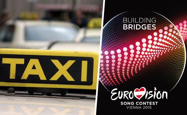 Das ESC-Logo ziert 150 Wiener Taxis.