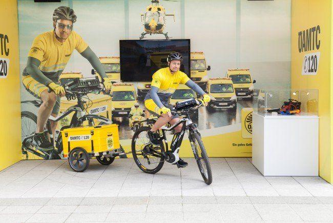 Der ÖAMTC erweitert seine Pannenflotte um E-Bikes, die in den Wiener Innenstadtbezirken unterwegs sein werden.