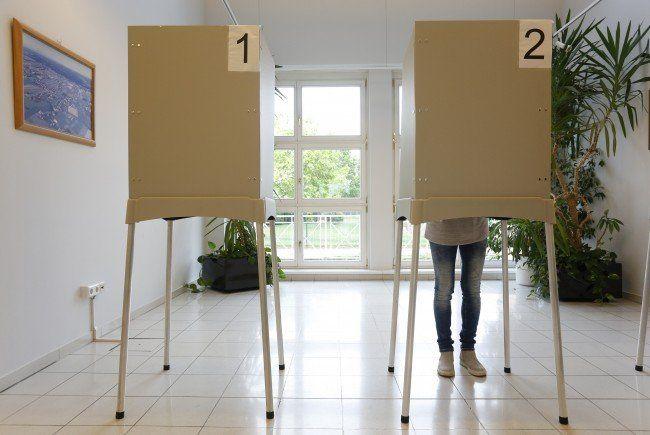 Die erste Hochrechnung zur Landtagswahl im Burgenland 2015.