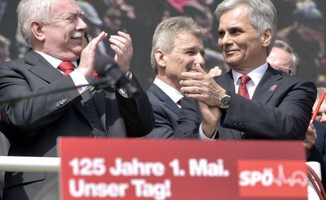 1. Mai - SPÖ stimmte sich in Wien auf den Wahlkampf ein