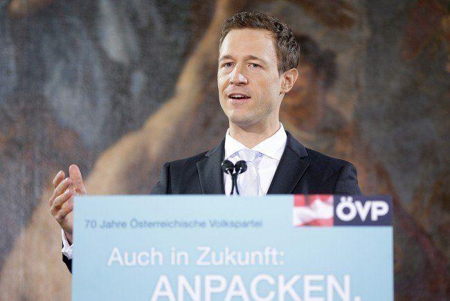 Generalsekretär Gernot Blümel organisiert den ÖVP-Parteitag in der Wiener Hofburg.