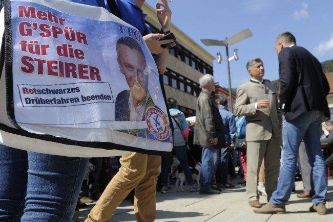 Erste Umfragen vor der Landtagswahl in der Steiermark zeigen ein großes Plus für die FPÖ.
