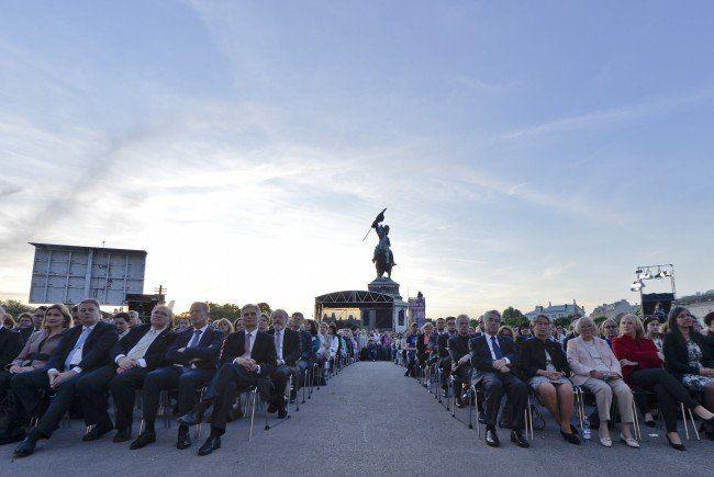 """Am Freitag wurde am Wiener Heldenplatz das """"Fest der Freude"""" gefeiert."""