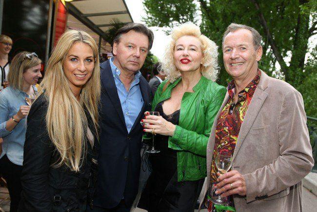 Yvonne Rueff, Wolfgang Schwarz, Andrea Buday und Ossi Schellmann (v.l.) beim 20. Geburtstag der summerstage