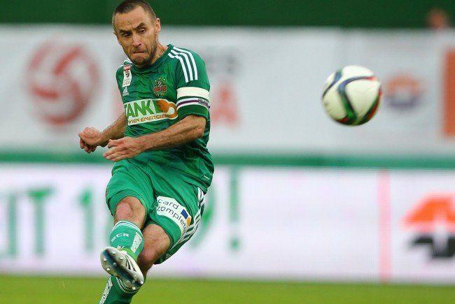Erleichterung beim SK Rapid Wien nach der Fixierung des zweiten Tabellenplatzes.