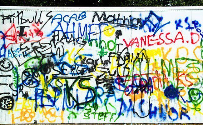 Ein Graffiti-sprayer wurde in Hernals erwischt