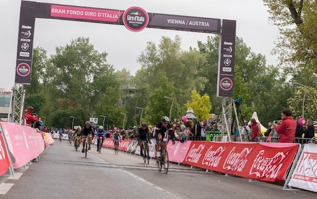 Beim Gran Fondo Giro d'Italia Vienna 2015