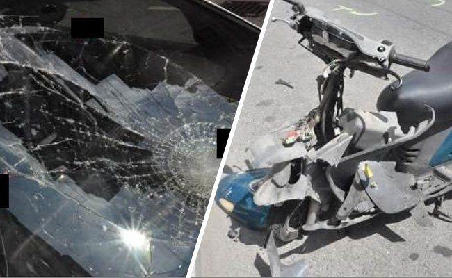 Ein Motorradfahrer wurde verletzt.