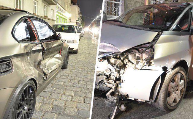 Wien – Favoriten: Drei verletzte Personen bei Verkehrsunfall
