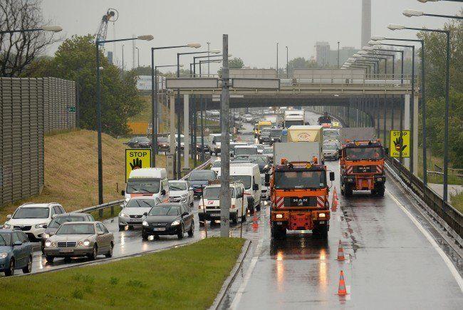 Nach dem Unfall bildete sich ein langer Stau auf der A4.
