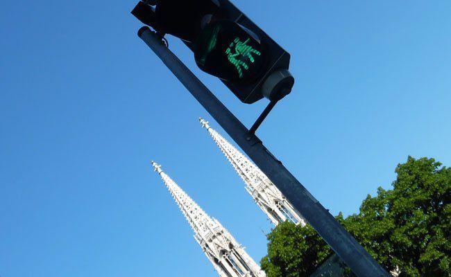 So sehen die neuen Ampelmännchen in Wien aus.