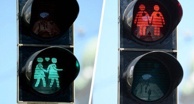 Ausgewählte Wiener Ampelmännchen treten nun auch als gleichgeschlechtliche Paare auf.