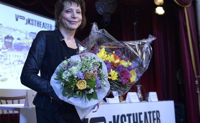 """Anna Badora, designierte Intendantin des Volkstheaters im Rahmen einer Pressekonferenz zum Thema """"Spielplan 2015/2016"""""""