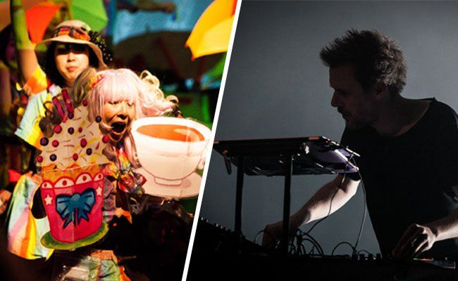 Highlights beim donaufestival 2015: Miss Revolutionary Idol Berserker (l.) und Clark (r.)