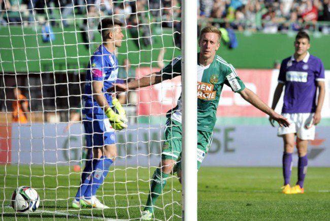 Die Austria konnte Rapid am Sonntag nicht stoppen.
