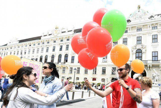 Das Stadtfest fand wieder um die Wiener Hofburg statt.