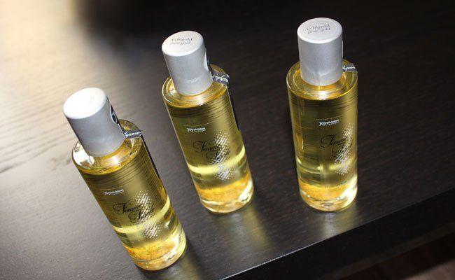 Verlost werden zehn Flaschen von dem hochwertigen Massageöl.