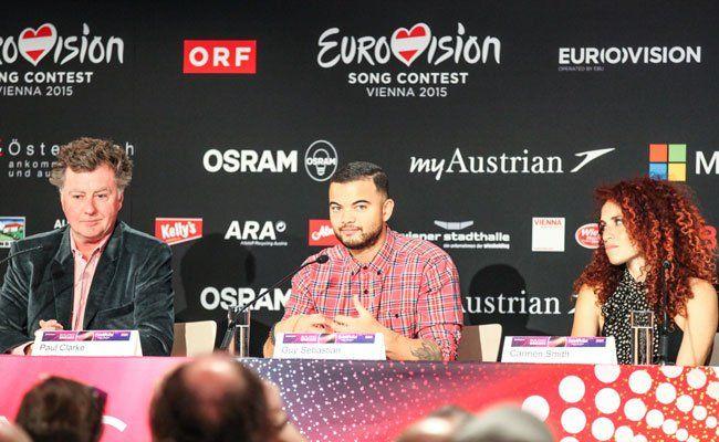 Auch Guy Sebastian aus Australien hat zur Pressekonferenz geladen.